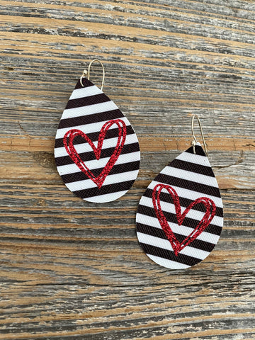 Valentine's heart earrings