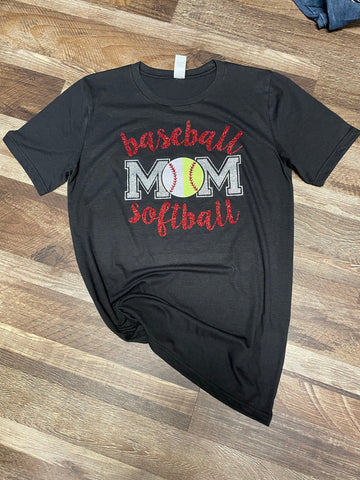 Glitter baseball/softball shirt