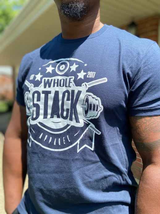 Whole Stack Classic Tee (blue)