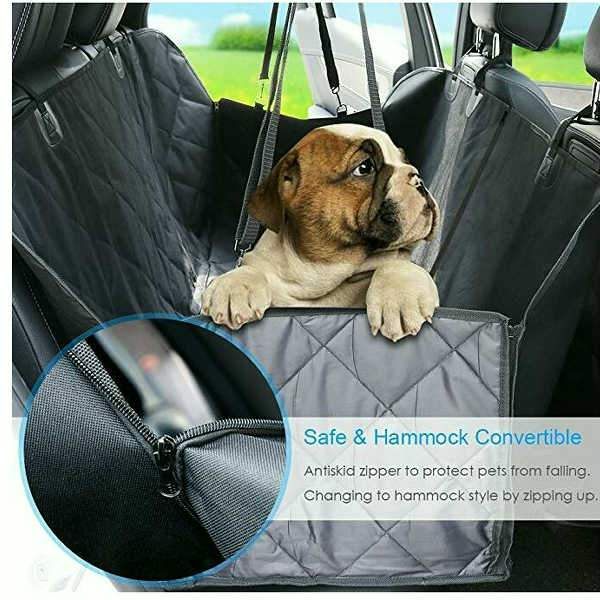 Easy To Lubricate Durable Car Pet Foldable Seat Cover Waterproof Scratchproof Dog Protector Hammock sky-blue