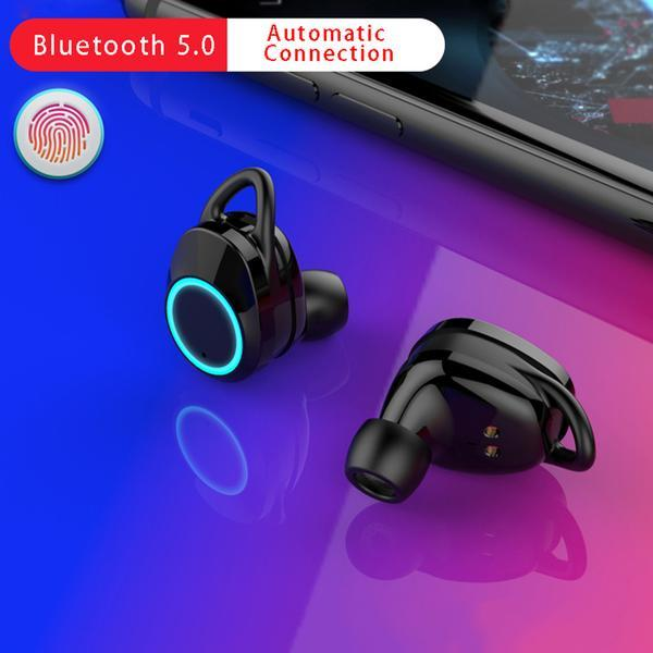 Swimming In-ear wireless Bluetooth v5 0 earbuds headphones Waterproof  Earbuds for Android & iPhone, iPad,it's Auto Pairing Bluetooth 5 0  Earphones,3D