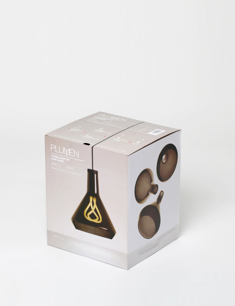 Packaging for plumen drop top shade