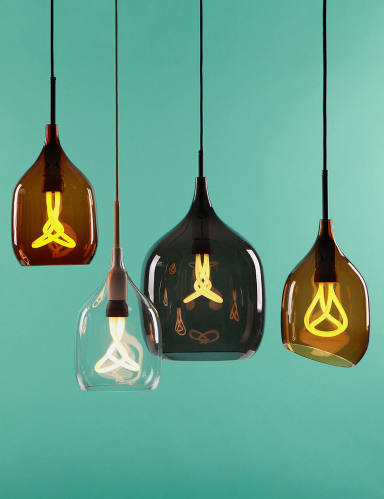 Vessel Large Shade in Grey with Plumen 001 Bulb