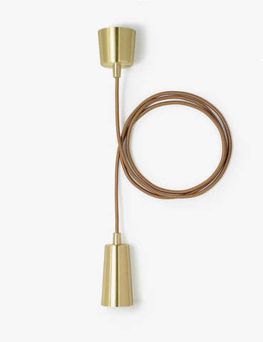 Drop Cap Pendant - Brass