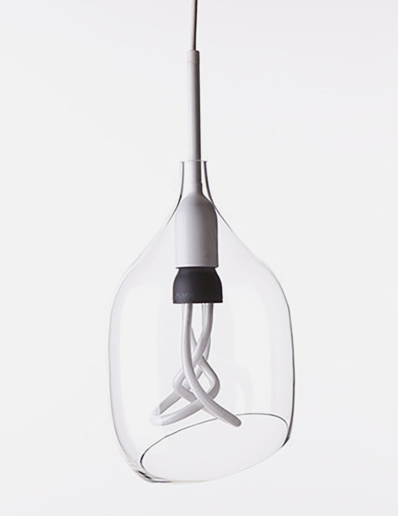 clear glass vessel lamp shade diagonal cut plumen uk. Black Bedroom Furniture Sets. Home Design Ideas