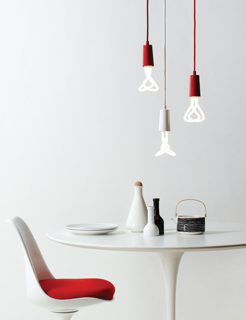 Drop Cap Pendant - Red