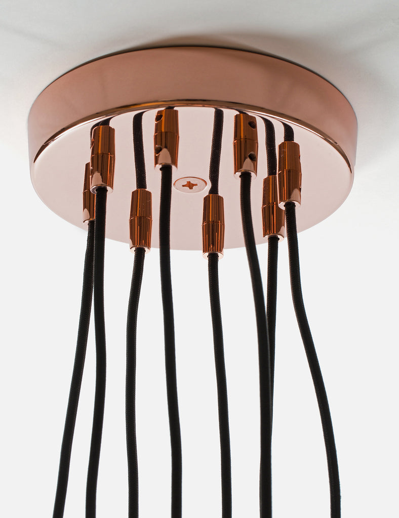 8 Way Ceiling Rose Copper