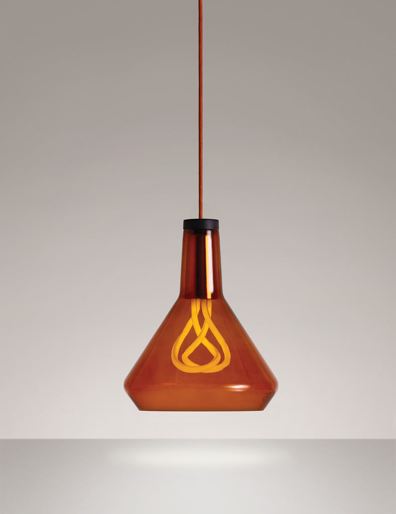 Drop Top Lamp Shade A in Amber (Glass Only)