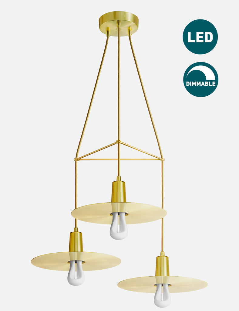 3 Way Drop Hat Chandelier