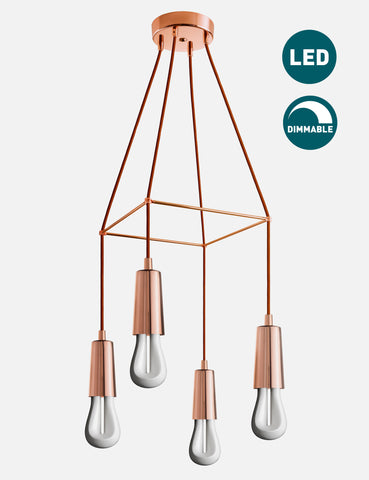 4 Way Drop Cap Chandelier