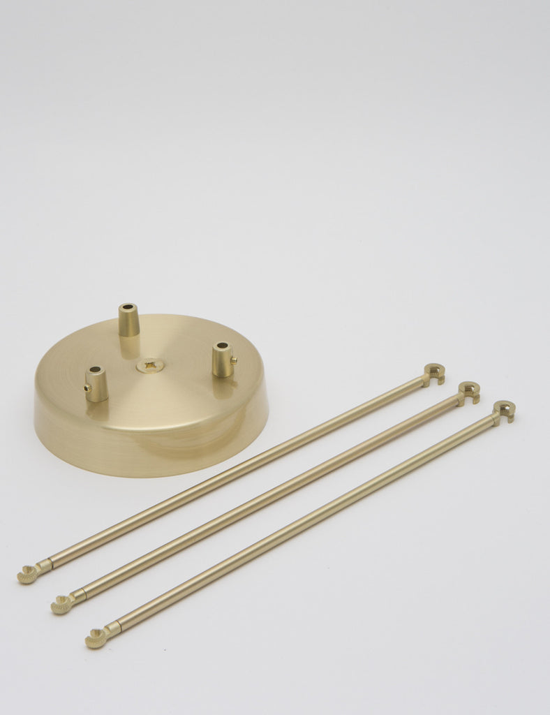 3 Way Chandelier Kit Brass