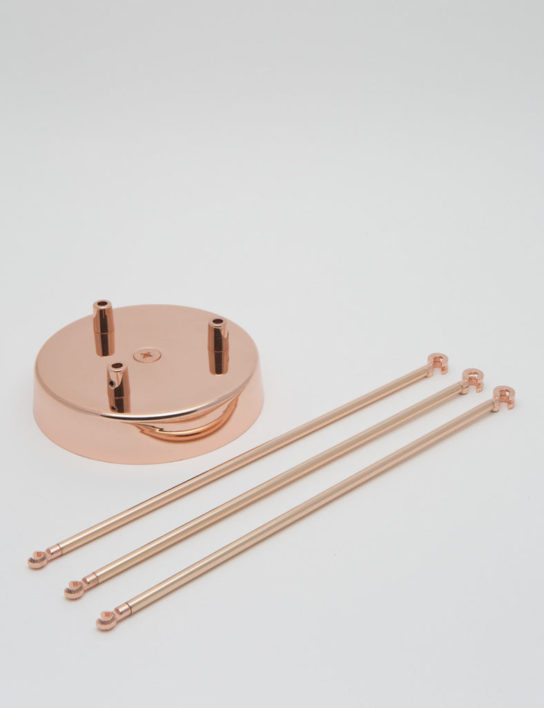 Plumen chandelier kit copper