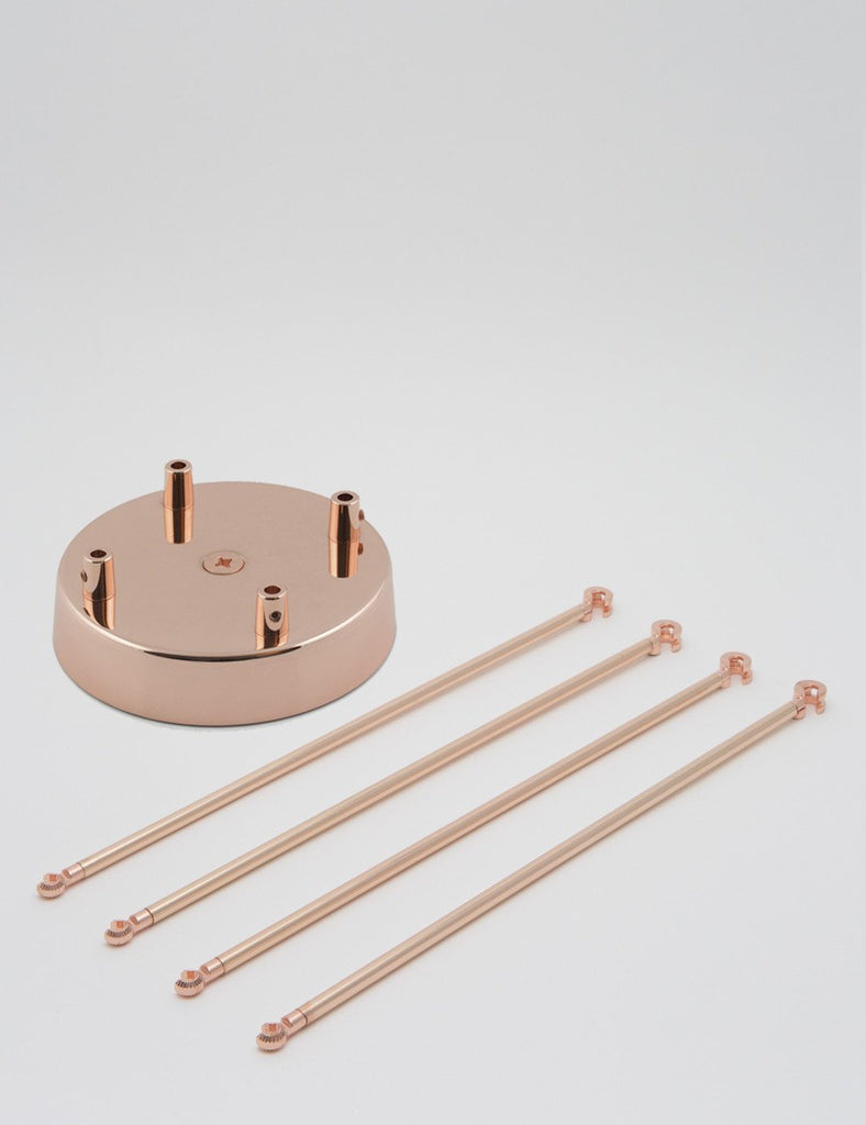 4 Way Chandelier Kit - Black, Copper, White, or Brass