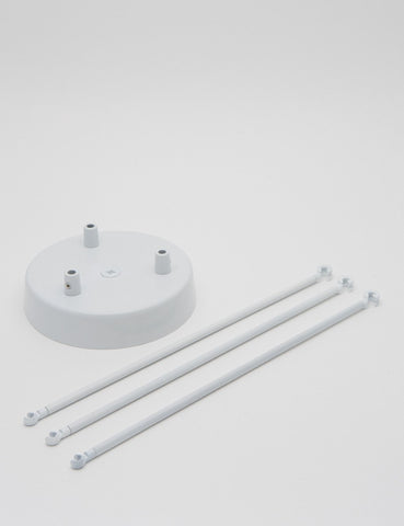 3 Way Chandelier Kit White
