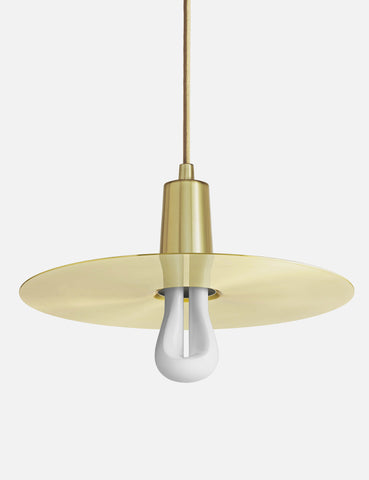 Drop Hat Lamp Shade - Brushed Brass