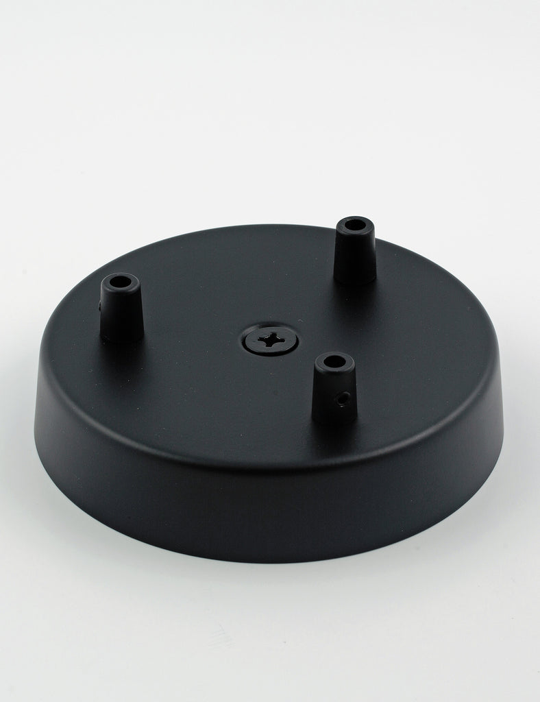 3 Way Ceiling Rose Black