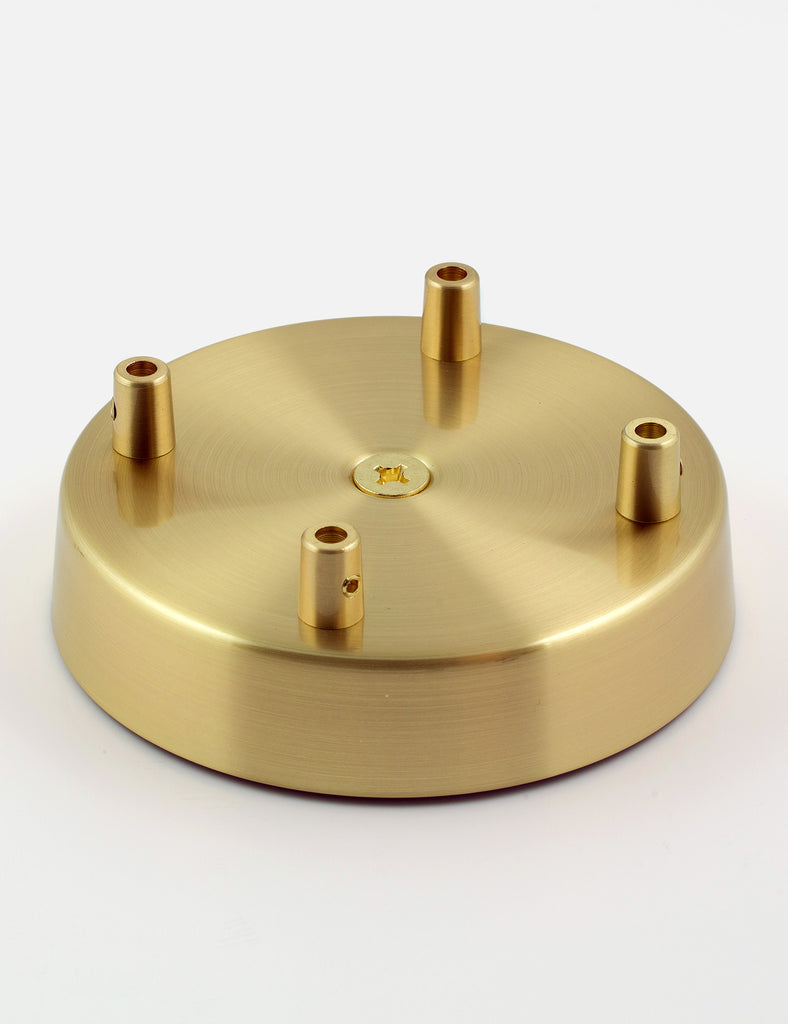 4 Way Ceiling Rose Brass