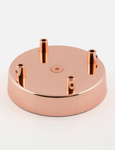 4 Way Ceiling Rose Copper