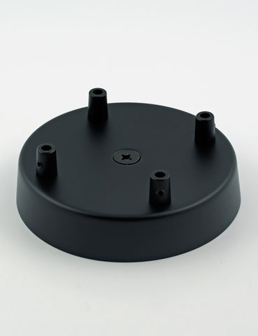 4 Way Ceiling Rose Black