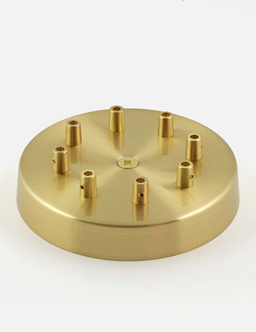 8 Way Ceiling Rose Brass