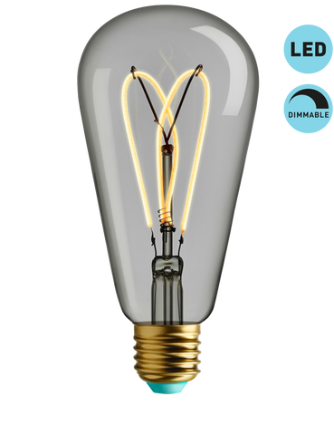 Whirly Willis - Clear Dimmable LED