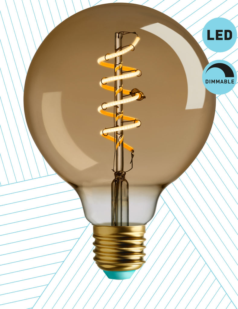 Plumen Pendant and WattNott Whirly Wyatt Dimmable LED Light Bulb