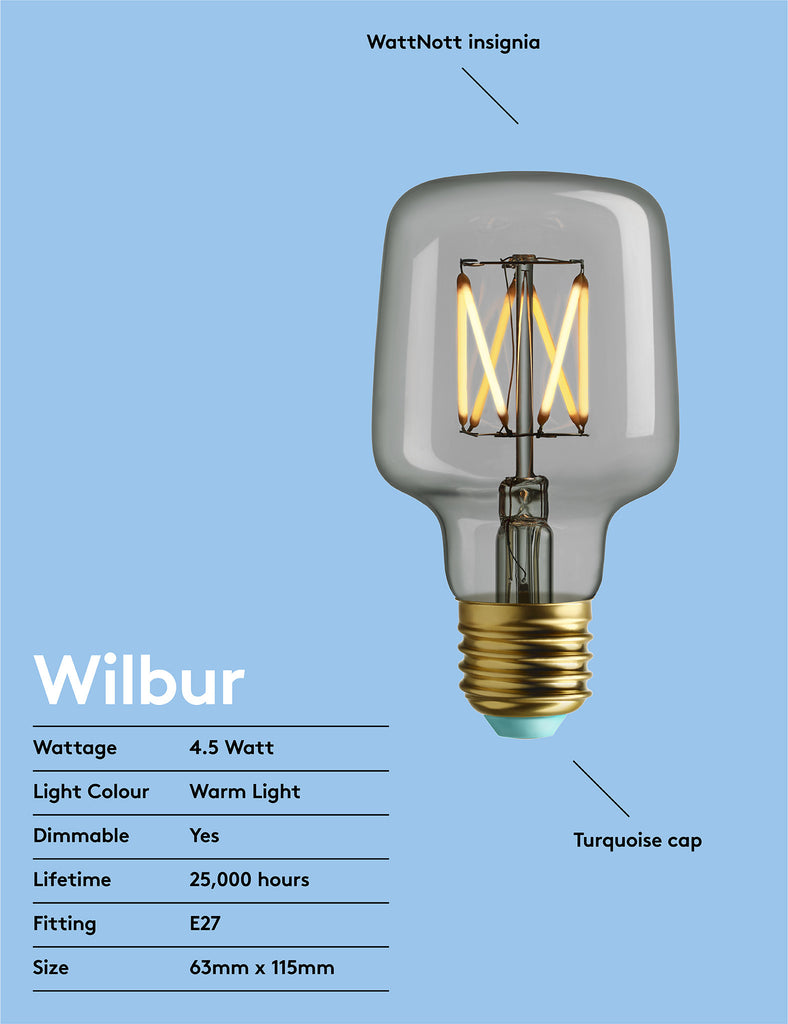 WILBUR - WARM WHITE LIGHT - DIMMABLE LED