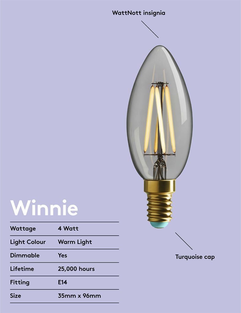 WINNIE - WARM WHITE LIGHT - DIMMABLE LED