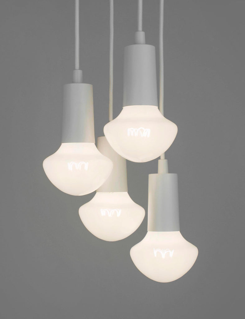 Plumen Pendant and Willow Milky 4 Pendant Set Multipack