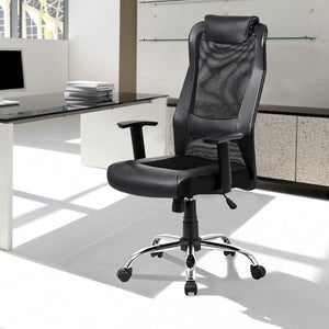 Office Mesh Back Rocking Chair - MEGAFURNISHING