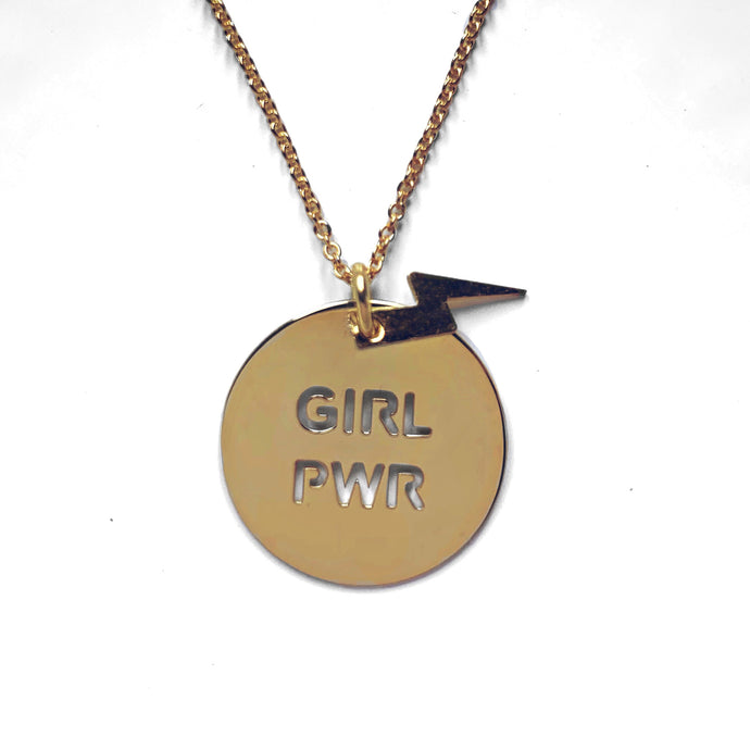 Collar Girl Power Rayo Dorado