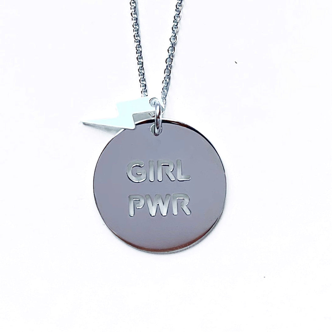 Collar Girl Power rayo plateado