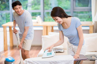 Couple doing housework & chores