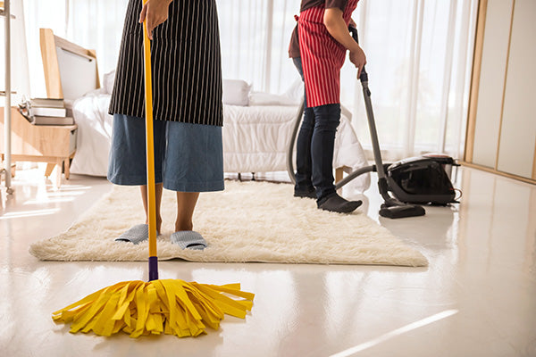 Sweep and mop the floor