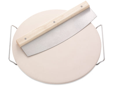 LEIFHEIT Pizza Stone (Round) w/ Chopping Knife L03159