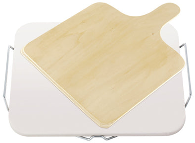LEIFHEIT Pizza Stone (Square) w/ Wooden Spatula L03160