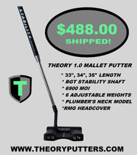 Load image into Gallery viewer, The THEORY 1.0 Mallet Putter with BGT Stability Shaft - Theory Putters, Theory Putters, Robert Mark Golf, Mallet Putter