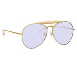Dries Van Noten 187 C3 Aviator Sunglasses