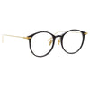 Linda Farrow Linear Gray A C1 Oval Optical Frame