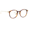 Linda Farrow Linear Gray A C3 Oval Optical Frame
