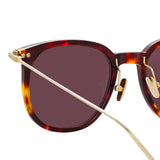 Linda Farrow Linear Stern A C9 Square Sunglasses