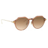 Linda Farrow Linear 05A C10 Angular Sunglasses