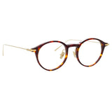 Linda Farrow Linear Arris C3 Oval Optical Frame