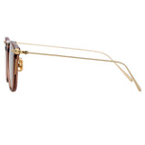 Linda Farrow Linear Wright A C12 Rectangular Sunglasses