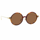 Linda Farrow Linear 09A C10 Round Sunglasses