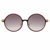 Linda Farrow Linear 09A C11 Round Sunglasses