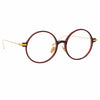 Linda Farrow Linear Savoye C4 Round Optical Frame