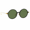 Linda Farrow Linear 09A C9 Round Sunglasses