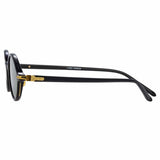 Linda Farrow Linear Eaves C6 Oval Sunglasses