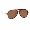 Linda Farrow Linear Gilles A C3 Aviator Sunglasses